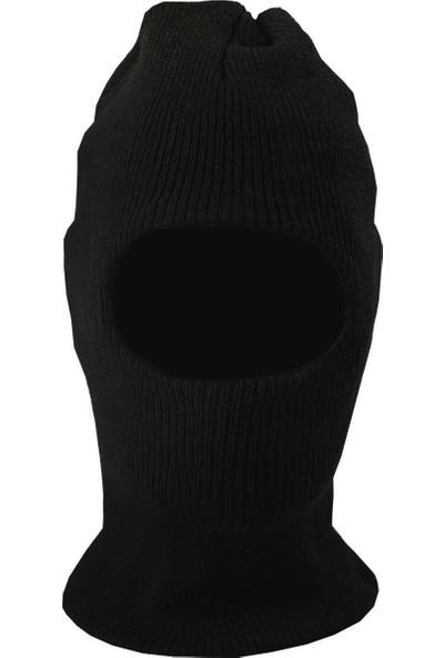 Buriş Yün Kar Maskesi Siyah