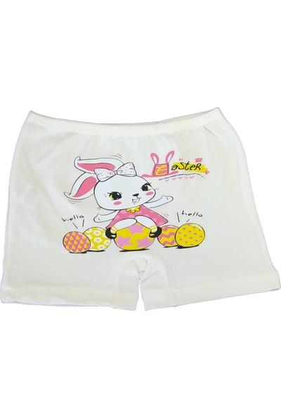 Domi Kids Kız Çocuk Boxer - Easter Rabbit - Ekru