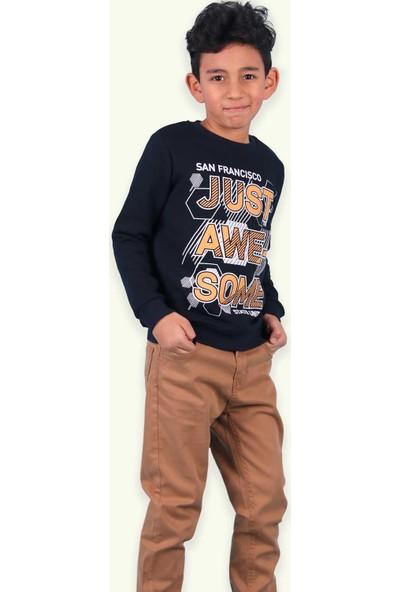 Watch Me Erkek Çocuk Sweatshirt Baskılı Lacivert (7-8 Yaş)