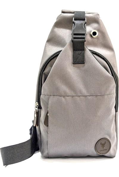 Kindfox Kulaklık Çıkışlı Imperteks Kumaş Çapraz Sırt ve Gögüs Çantası   Bodybag