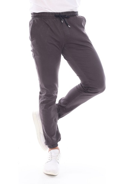 Sedtu Antrasit Erkek Beli Lastikli Jogger Pantolon