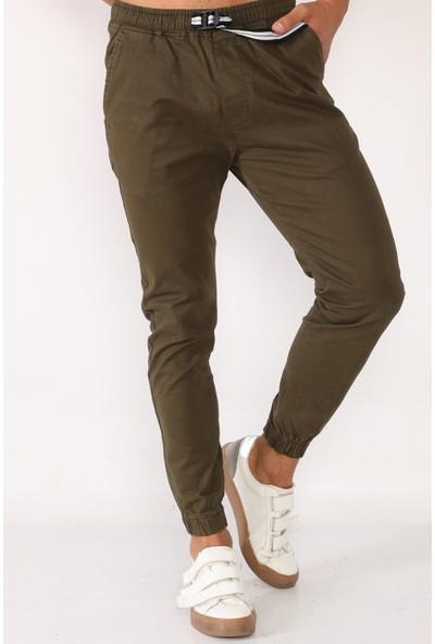 Sedtu Yeşil Erkek Kemerli Jogger Pantolon