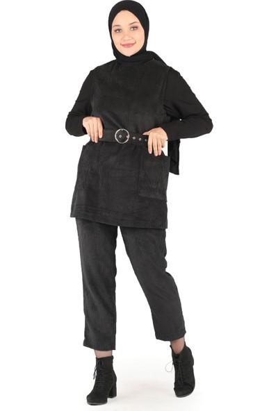 İkoll 20811 Süveterli Takım S/m-L/xl Velvet Siyah