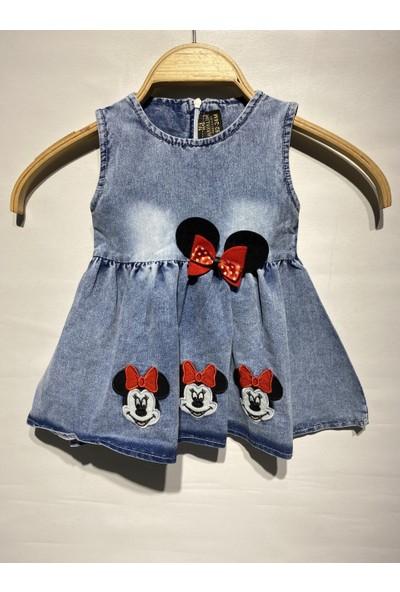 Baby Rapapa Kız Çocuk Nakışlı Kot Elbise 2277-