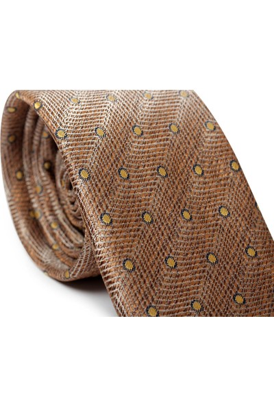 İlhan Işık Erkek Desenli Pamuk Takım Elbise Kravatı