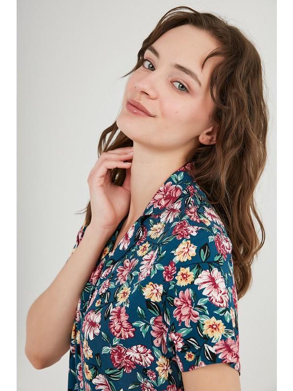 Penti Night Flowers Ss Pijama Takımı