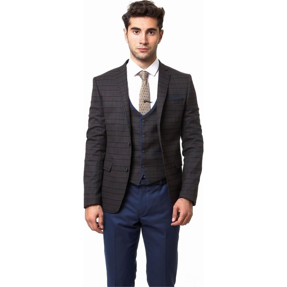 9d91cb76e0cd3 Wss Wessi Ekose Yelekli Poliviskon Kışlık Takım Elbise Fiyatı