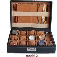 Obtech Model 2 Tespih Kolye Yüzük Saat Kalem Mücevherat Kutusu Çantası