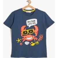 Koton Erkek Çocuk Baskılı T-Shirt Mavi