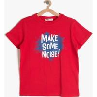 Koton Erkek Çocuk Yazılı Baskılı T-Shirt Kırmızı