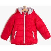 Koton Kız Çocuk Fermuar Detaylı Mont Kırmızı