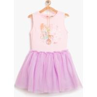 Koton Kız Çocuk Winx Club Baskılı Elbise Pembe