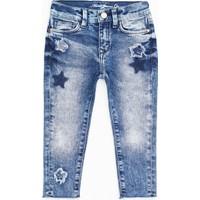 Mavi Lara Yıldız Patchli Çocuk Jean Pantolon