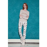 Hays Browni Kadın Uzun Kollu Uzun Pijama Takımı