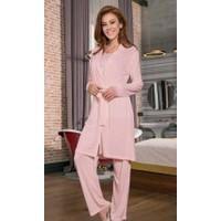 Yeni İnci BPJ131 Viskon 3'lü Kadın Pijama Takım