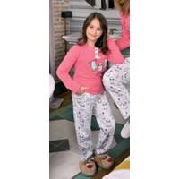 Yeni İnci CPJ296 Süprem Kız Çocuk Uzun Kollu Pijama Takımı