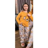 Yeni İnci CPK294 Süprem Kız Çocuk Uzun Kollu Pijama Takımı