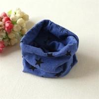 Momz Yıldız Motifli Bebek Çocuk Boyunluk Atkı Fular Mavi