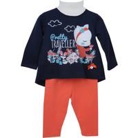 Zeyland Kız Çocuk Mavi Tunik + Tayt Takım 72M2Crt77