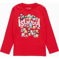 Mavi Erkek Çocuk Kırmızı İstanbul Sweatshirt