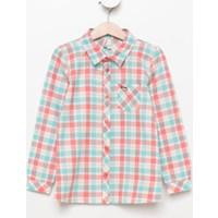 Defacto Kız Çocuk Ekoseli Gömlek H2497A417Aurd136