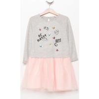 Defacto Patch Detaylı Kız Çocuk Elbise H5678A417Augr93