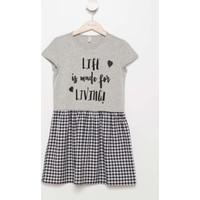 Defacto Baskılı Genç Kız Kısa Kollu Elbise H9305A617Hsbk46