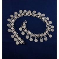 Akyüz Gümüş Yöresel Pullu Kişniş Gümüş Halhal Hl033