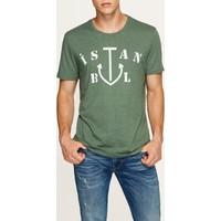 Mavi Yeşil Çapa İstanbul T-Shirt