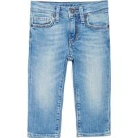 Mavi Açık Mavi Vintage Bebek Jean Pantolon