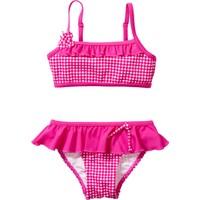 Bpc Bonprix Collection Kız Çocuk Pembe Fırfırlı Bikini Modeli