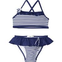Bpc Bonprix Collection Kız Çocuk Mavi Fırfırlı Bikini Modeli