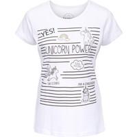 Rainbow Kadın Beyaz Baskılı T-Shirt