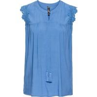 Rainbow Kadın Mavi Kolsuz Bluz