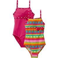 Bpc Bonprix Collection Kız Çocuk Pembe Desenli İnce Mayo