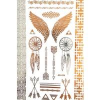 Modamarka-Shop Flash Tattoos® Gold Wings & Dreamcatcher Geçici Dövme