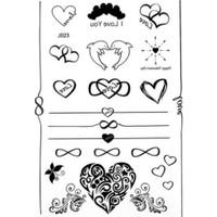 Modamarka-Shop Henna Siyah Tattoo Hearts&Together