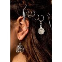 Modamarka-Shop Hair Rings 10 Adet Örgü Saç Küpesi Saç Yüzüğü Silver