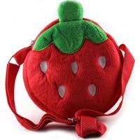 Veronya Meyve Tasarımlı Kız Çocuk Çantası -Kırmızı Çilek Çanta Çnt01