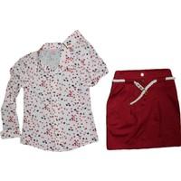 Tommito 5992 Krep Gömlekli Takımı Kırmızı