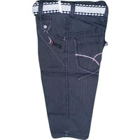 Özaytaç Ö-705-1 Çizgili Kuşgözü Pantolon Füme