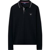 Gant Tech Prep Siyah Erkek Polo Sweatshirt 2015000.5