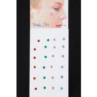 E-Bijuteri Renkli Taş Tasarımlı Yapıştırmalı Hızma 520400