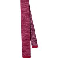 La Pescara Kırmızı Düz Örgü Kravat 8045