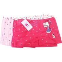 Koza Kız Çocuk Renkli Desenli Boxer 6'lı Paket