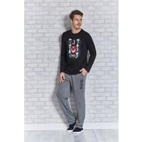 Beşiktaş Lisanslı Erkek Pijama Takımı L9401