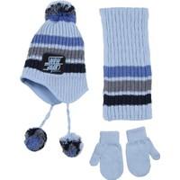 Kitti Erkek Çocuk Cool Atkı, Bere, Eldiven Takımı 1 - 4 Yaş Mavi K7926