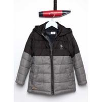 U.S. Polo Assn. Erkek Çocuk Ez3112 Mont Siyah