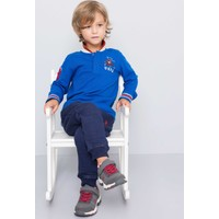 U.S. Polo Assn. Erkek Çocuk Sd01Sk7 Sweatshirt Mavi