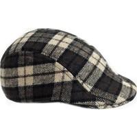 Outlet Çarşım Erkek Kareli Kasket Şapka